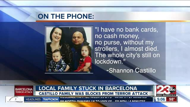 Local family stuck in Barcelona following terrorist attacks