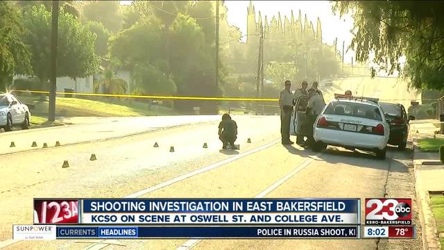 A shooting at College and Oswell leaves on man dead