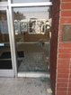 Concrete rock thrown through City Hall window