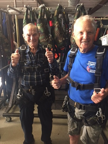 Honor flight veterans skydive