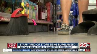 Burglars break in and steal only cigarettes