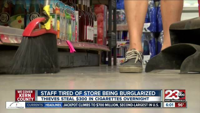 Thieves break in to convenience store and steal only cigarettes
