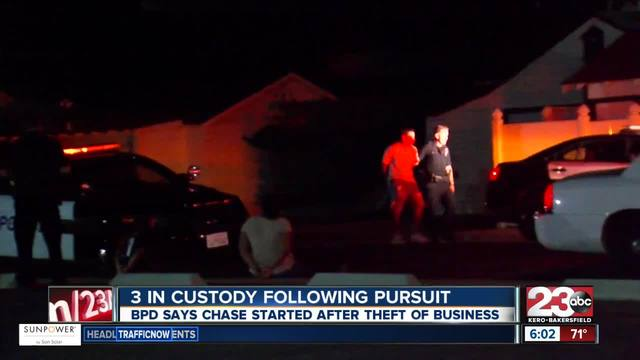 5 in custody following pursuit