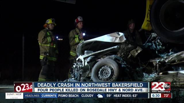 Four people killed in northwest Bakersfield crash