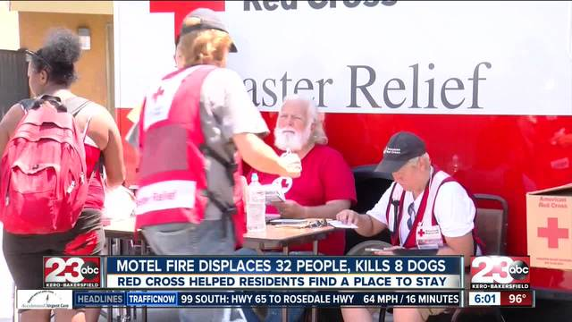 Motel fire displaces more than 30 people- kills eight dogs
