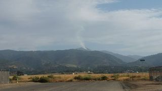 Report of a brush fire in the Tehachapi area