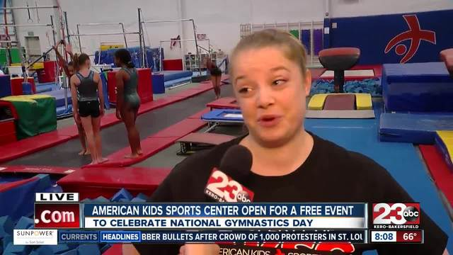 Local gym hosts free obstacle course for the public on National Gymnastics Day