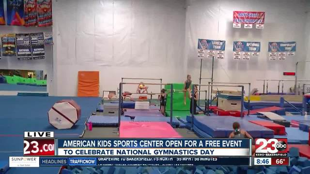 Local gym holds free obstacle course on National Gymnastics Day