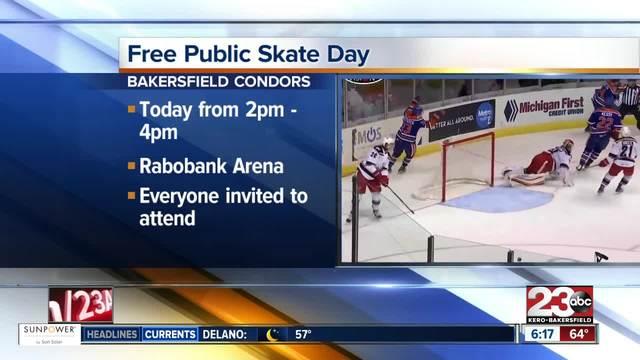 Bakersfield Condors hosting free skate day Saturday