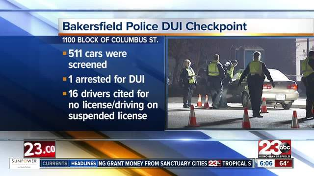 Bakersfield Police hold DUI-Driver-s License checkpoint