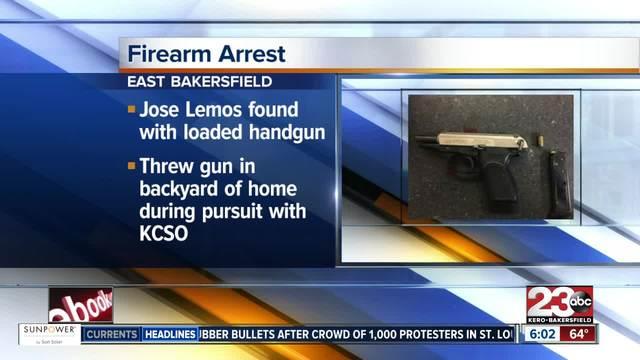 KCSO arrests wanted felon- finds loaded handgun