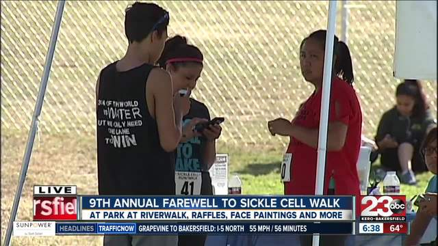 9th annual Farewell to Sickle Cell walk held at the park at Riverwalk