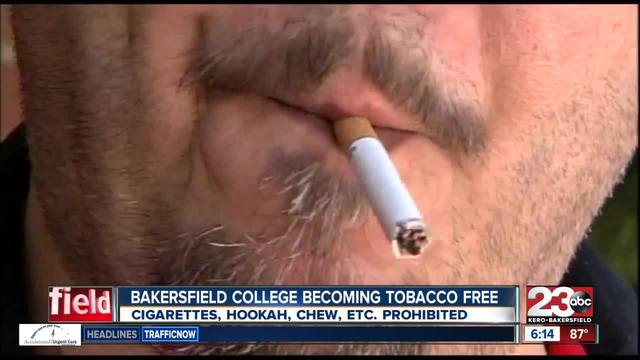 Bakersfield College becoming tobacco free campus