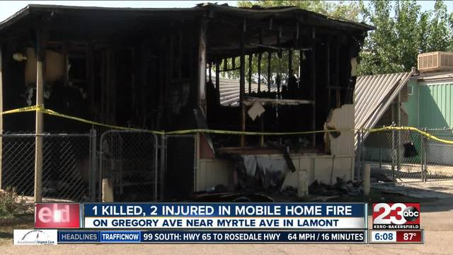 1 killed- 2 injured in mobile home fire in Lamont