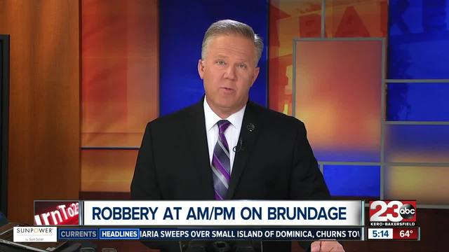 Armed robbery at AM-PM on Brundage Lane