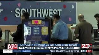 Free flight for victims of Las Vegas shooting