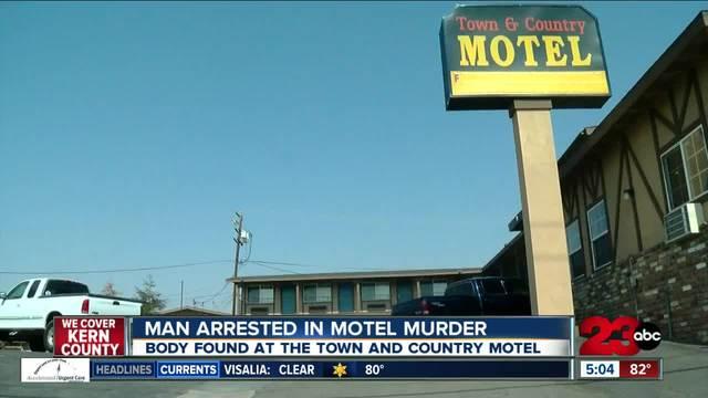 Man arrested in motel murder
