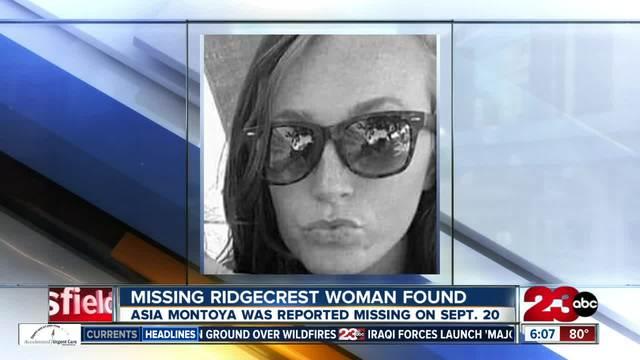 Missing Ridgecrest woman found