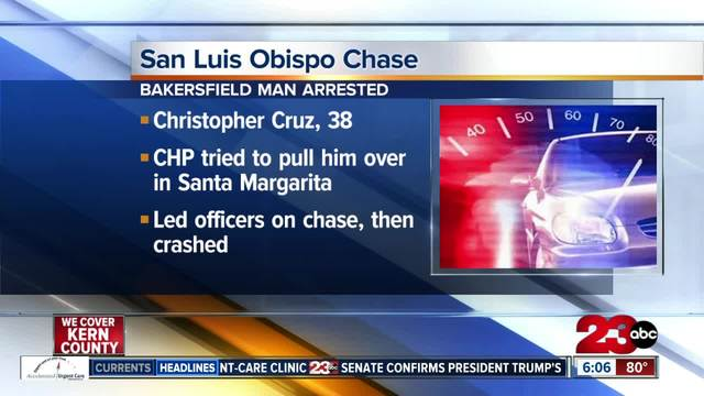 Bakersfield man arrested after leading officers on short chase