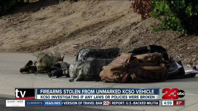 Firearms stolen from unmarked KCSO vehicle