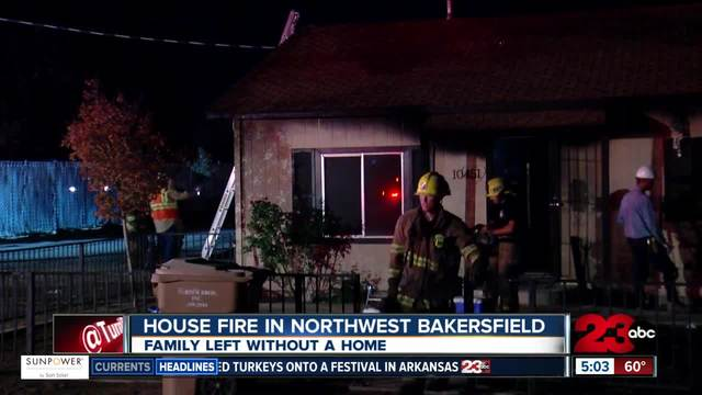 Family of four is displaced after their home catches fire in Northwest…