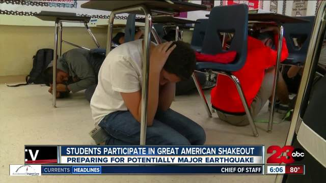 Students participate in Great California ShakeOut