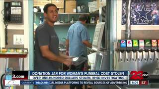 Donation jar for funeral stolen