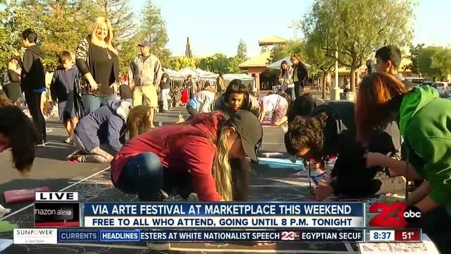 Dr- Seuss themed display at Via Arte Festival with Highland Art Club