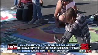 Chalk art on display at Via Arte Festival
