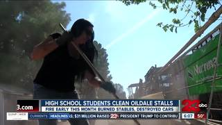 Highland High FFA cleans up burned Oildale area