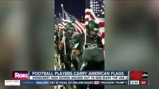 Ridgecrest football team goes viral for display
