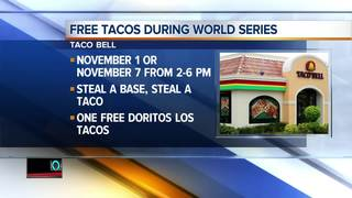 Taco Bell deals during the world series
