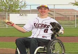 Paralyzed H.S. football star makes return
