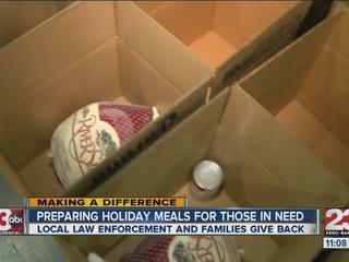 Law enforcement agencies help those in need