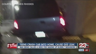 Man saves neighbors after car crashes into home