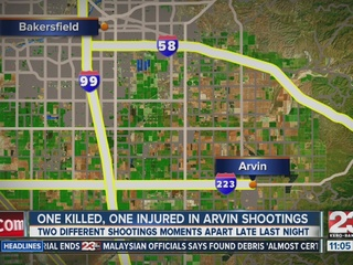 One killed, another injured in Arvin shootings