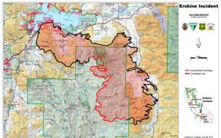 Erskine Fire Update: Fire now 45% contained
