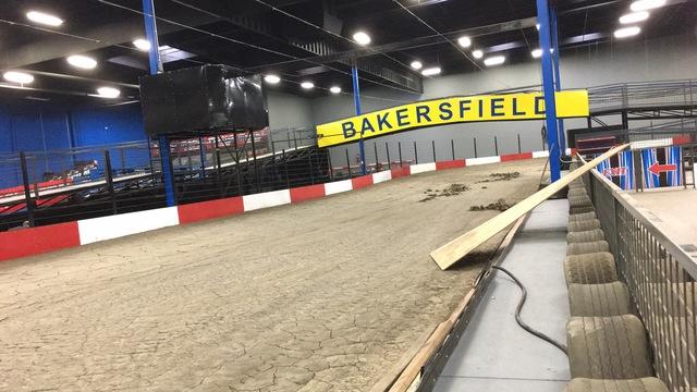 Indoor go kart racing coming to bakersfield for Flooring bakersfield