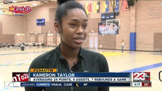 Female Athlete of the Week- Kameron Taylor