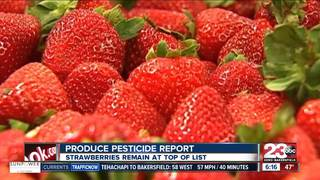 Strawberries remain at Top of Pesticide List