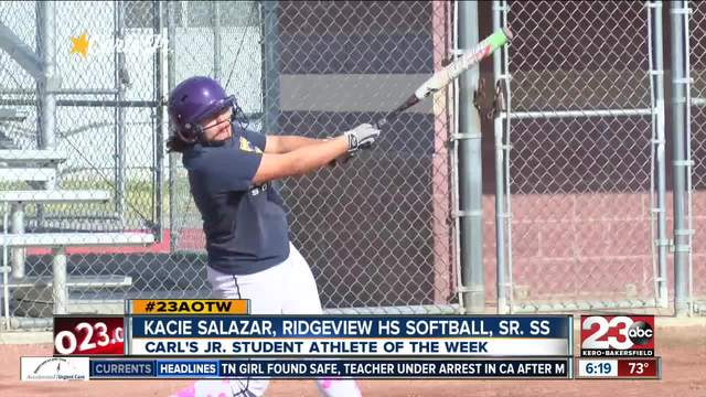 Female Athlete of the Week- Kacie Salazar