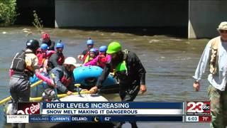 Rising water levels pose danger in Kern River