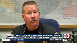 Fire Prevention Fee changes