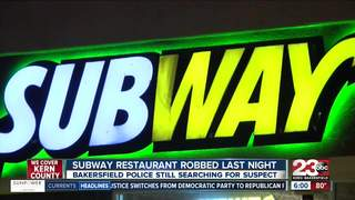 Subway Resturant robbery Thursday night