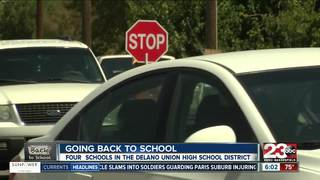 High school students in Delano return to school