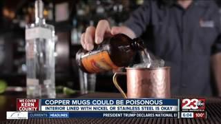 Copper mugs could be dangerous to drink from