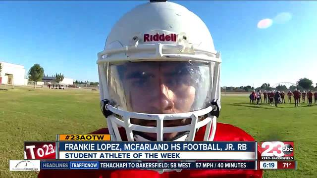 Male Athlete of the Week- Frankie Lopez