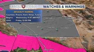 Smoke and haze brings an air quality alert