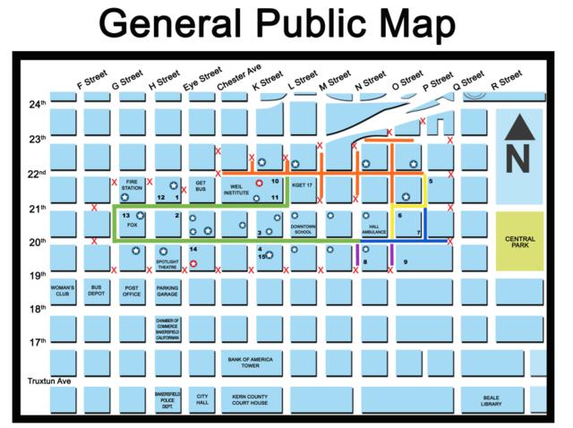 Bakersfield Christmas Parade Map