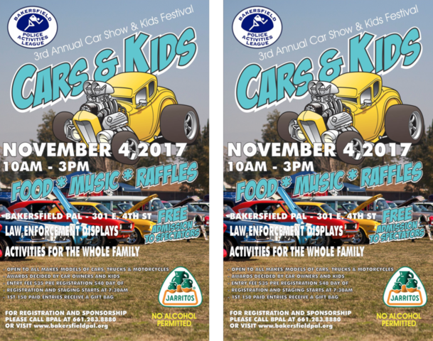 Bakersfield Police Activities Leagues Annual Car Show And Kids Fest - Bakersfield car show